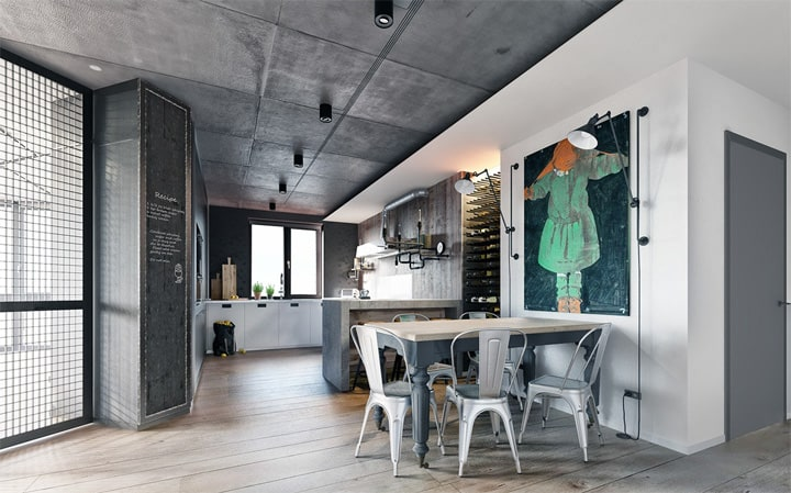 3 mẫu căn hộ phong cách thiết kế công nghiệp sành điệu 19