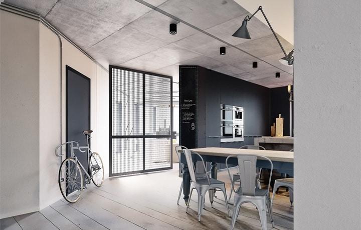 3 mẫu căn hộ phong cách thiết kế công nghiệp sành điệu 20