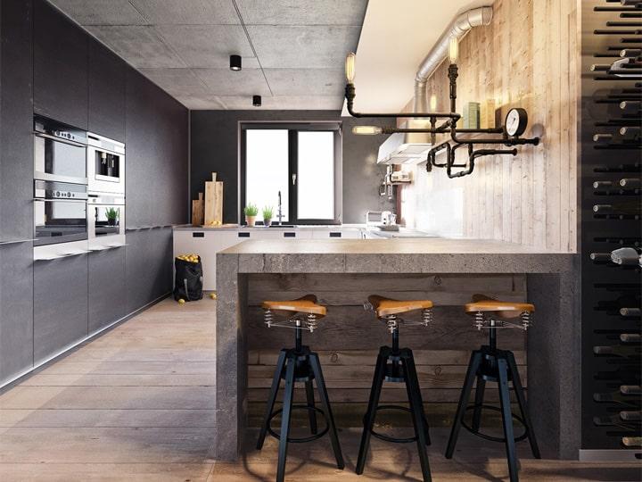 3 mẫu căn hộ phong cách thiết kế công nghiệp sành điệu 22