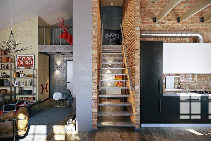 3 mẫu căn hộ phong cách thiết kế công nghiệp sành điệu 5