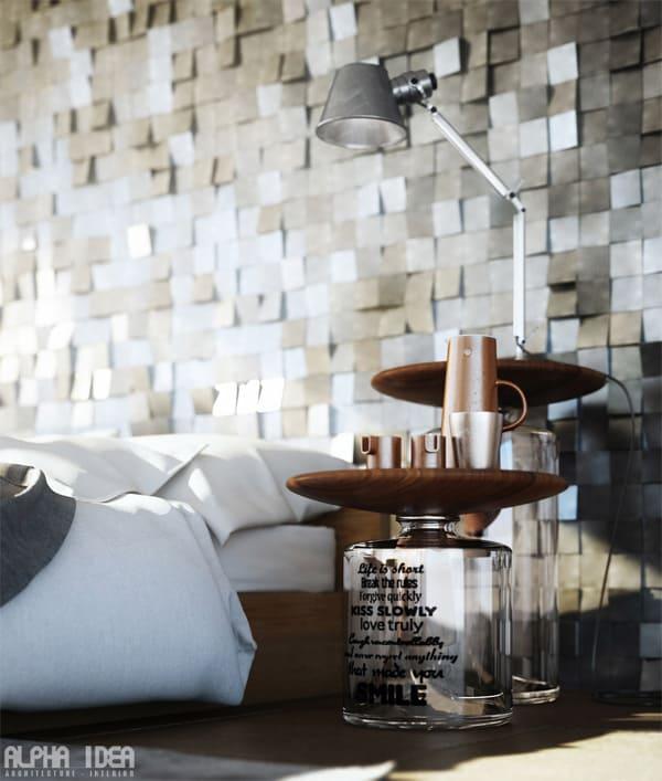 Phá cách hơn bạn có thể trang trí cả bàn trà, bàn cà phê trong không gian ngủ của mình