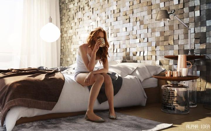 Lấy ánh sang từ cửa kiếng, áp mai là một lựa chọn tuyệt vời cho việc trang trí nội thất căn nhà của bạn phải không nào?