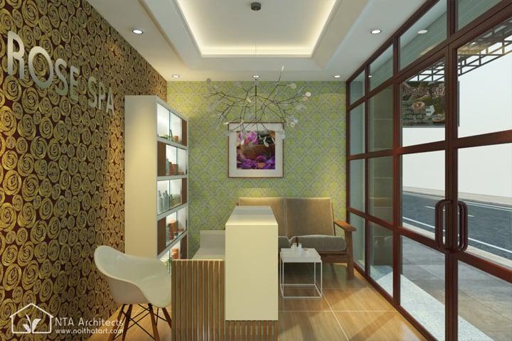 Và tất nhiên nội thất bằng kiếng hút ánh sáng tự nhiên cũng như để mở rộng không gian đang rất được ưu chuộng trong thiết kế tiệm nail hiện nay