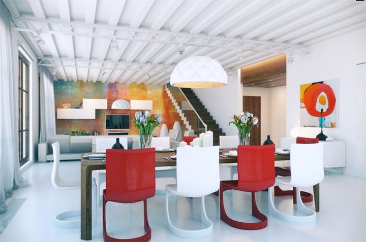 Mẫu thiết kế căn hộ Loft mang tông màu trẻ trung và sống động 2