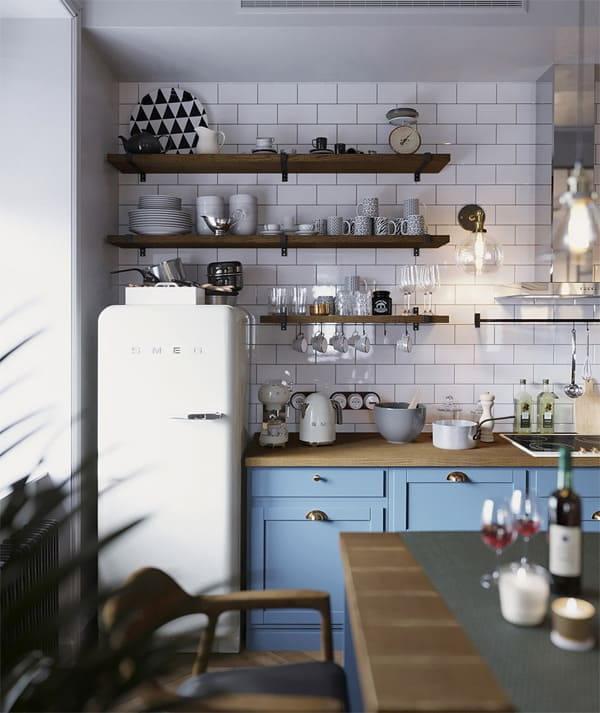 Gian bếp tận dụng ánh sáng tự nhiên trong phong cách scandinavian