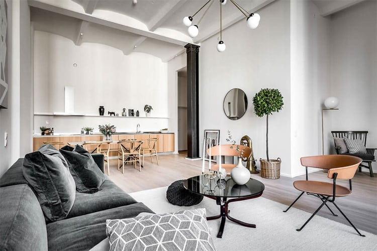 Trong phong cách scandinavian, tường trắng sẽ tạo cho bạn cảm giác thoải mái, mát mẻ và phóng khoáng