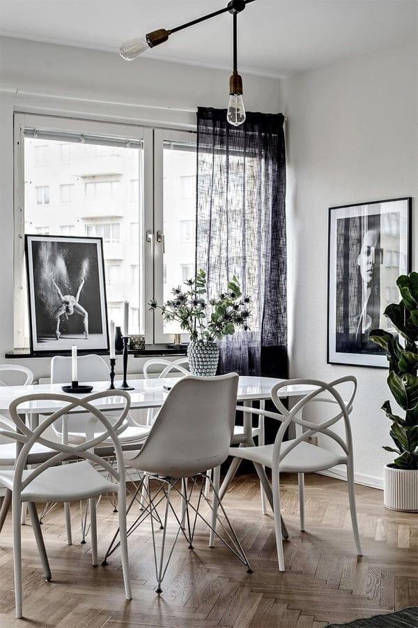 Các vật dụng nội thất scandinavian trong nhà từ nhỏ đến lớn đều có hơi hướm hiện đại và tối giản