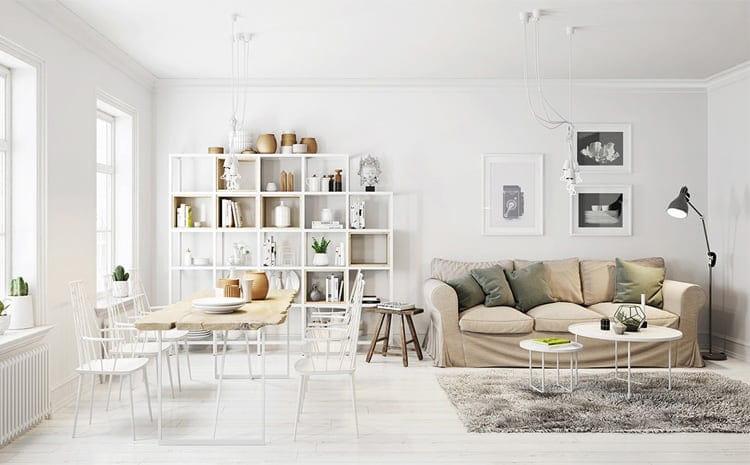 Bàn gỗ, kệ sách bằng gỗ là những thứ rất đễ bắt gặp nếu bạn lạc vào một căn nhà được thiết kế theo phong cách Scandinavian Bắc Âu