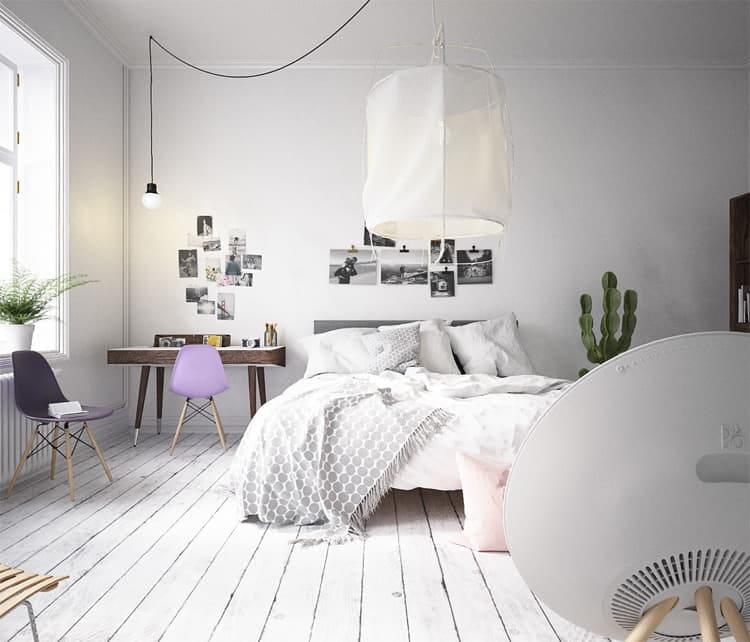 Hãy tưởng tượng mỗi sớm mai thức dậy trong một phòng ngủ phong cách Scandinavian như thế này thì thật tuyệt phải không nào?
