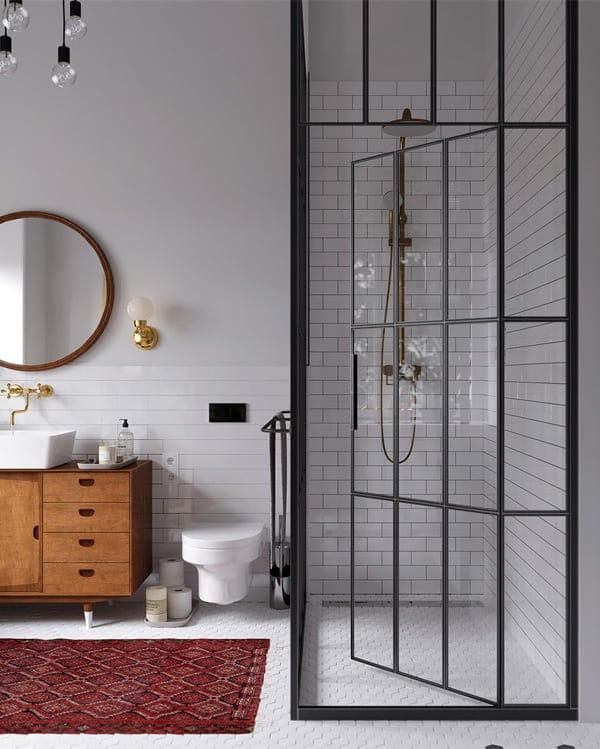 Nhà vệ sinh với trang thiết bị hiện đại nhưng nội thất thì vẫn có phần rất cổ điển