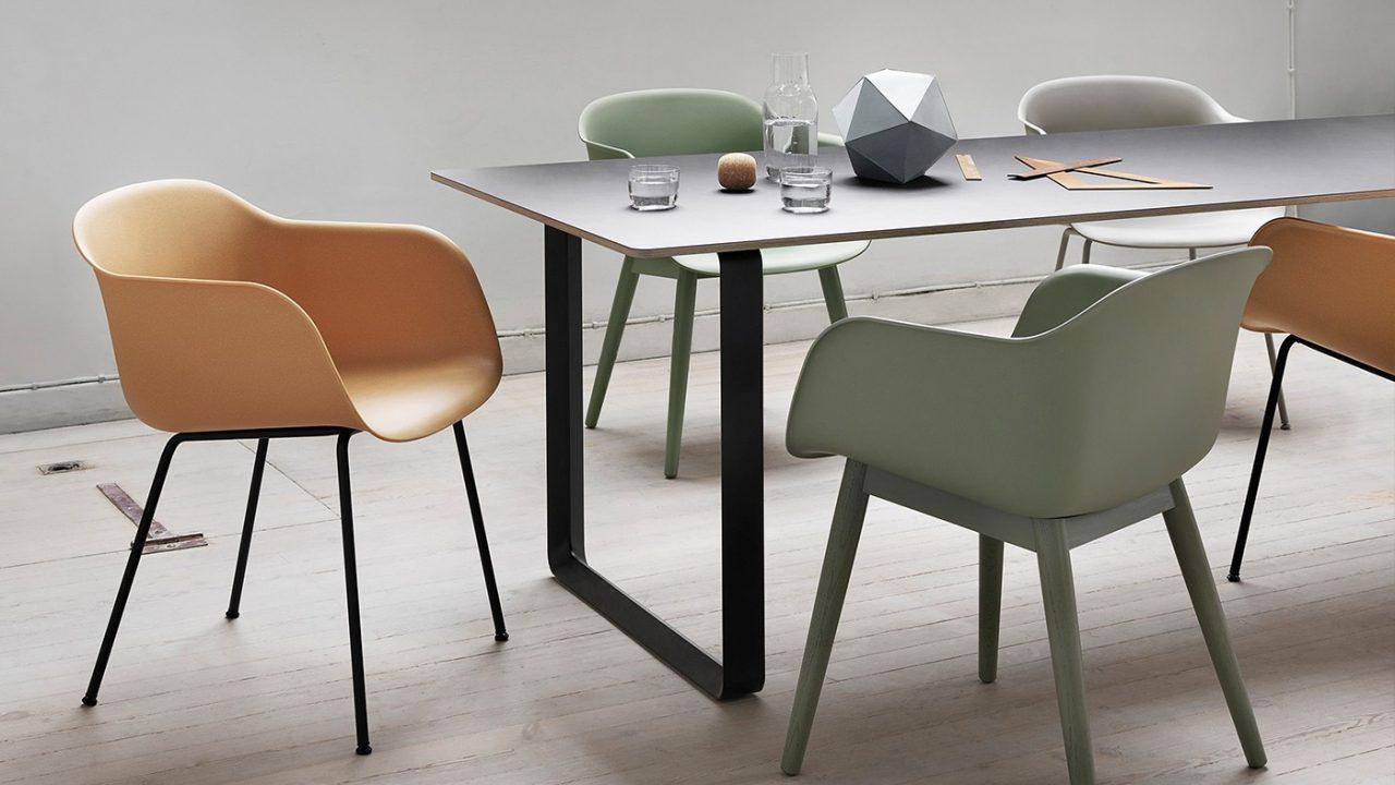 Kiểu ghế hiện đại kết hợp bàn ăn vô cùng phong cách