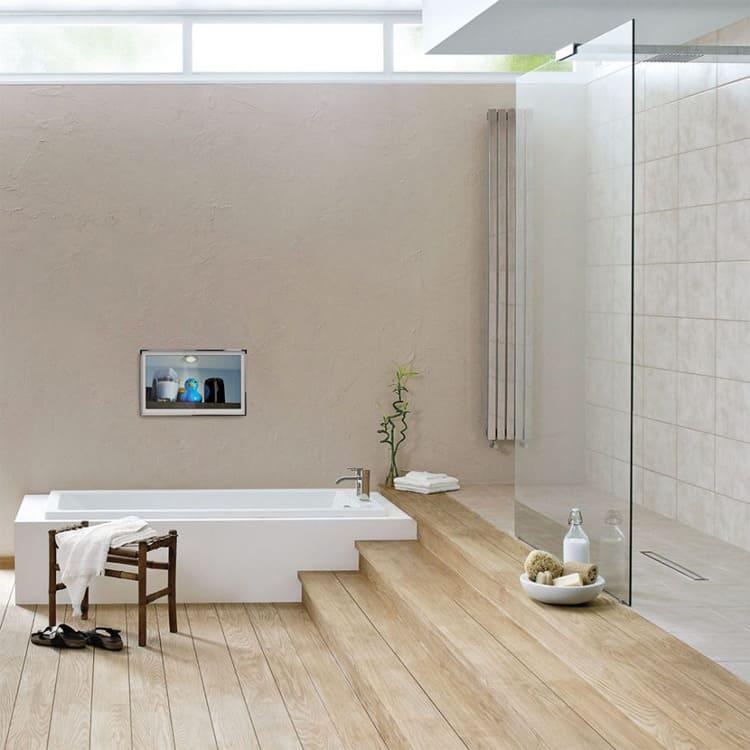 Các mẫu bồn tắm âm sàn khiến phòng tắm trở nên gọn gàng hơn