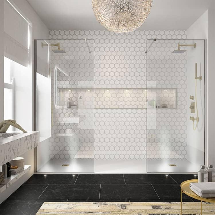 Phòng tắm đôi phù hợp với các gia đình kiểu hiện đại và bận rộn