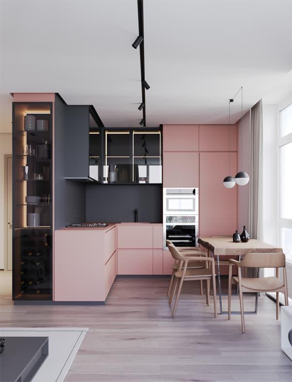 18 ý tưởng phối màu cho nhà bếp theo tông màu Pastel 1