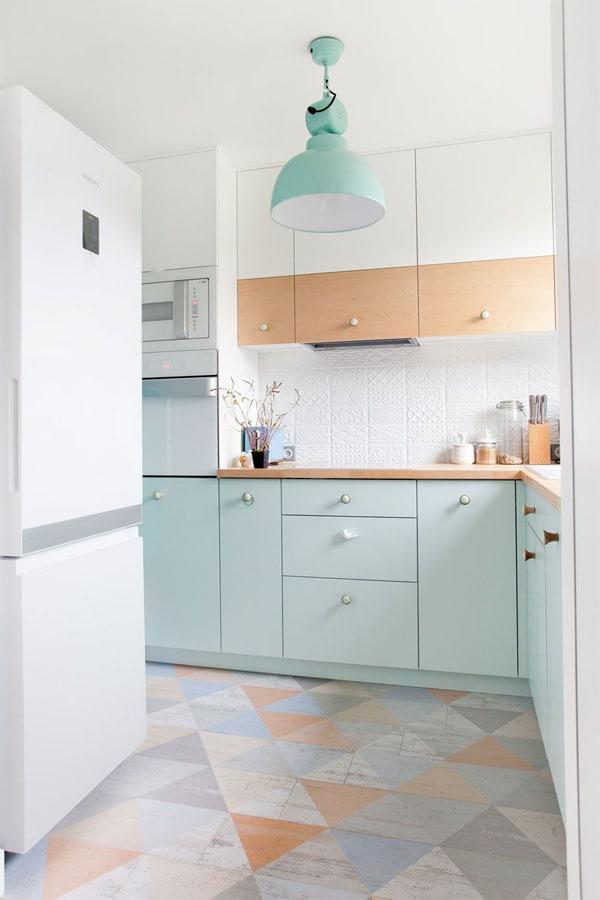 18 ý tưởng phối màu cho nhà bếp theo tông màu Pastel 4