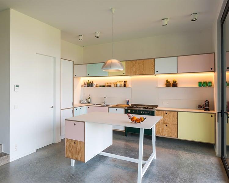 18 ý tưởng phối màu cho nhà bếp theo tông màu Pastel 9