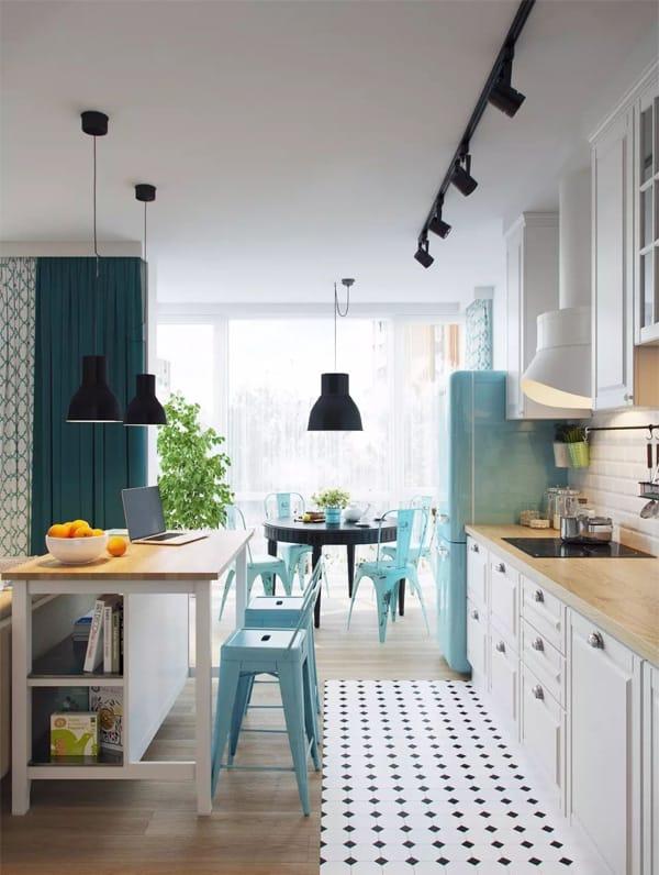 18 ý tưởng phối màu cho nhà bếp theo tông màu Pastel 10