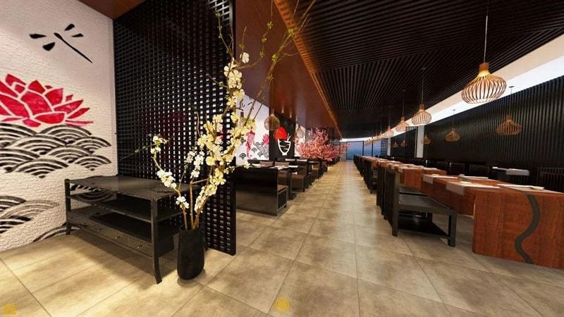 Thiết kế nhà hàng phong cách Zen