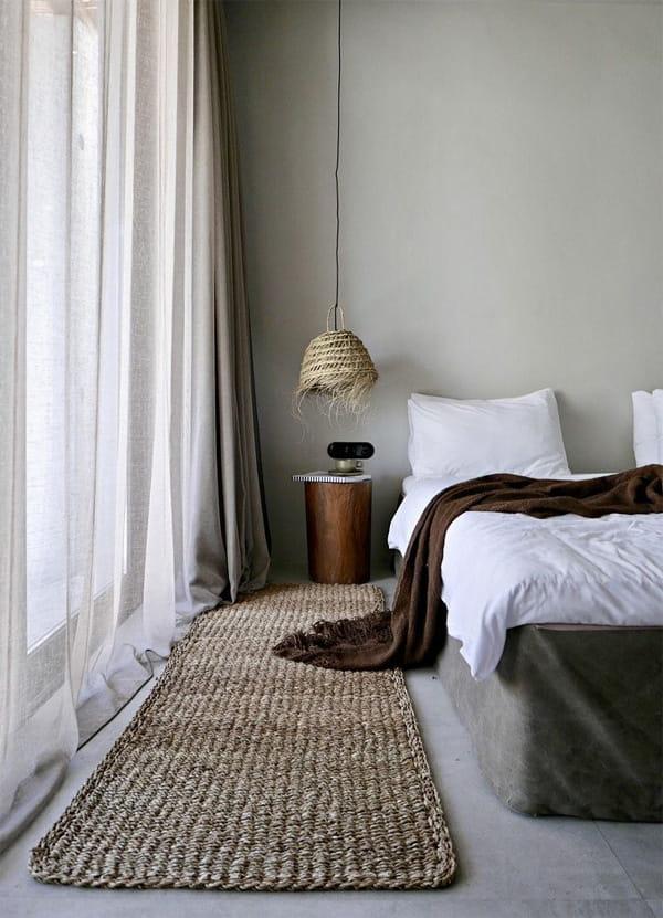 Vải và rèm trong Zen mang đến cảm giác thoải mái như đi Spa