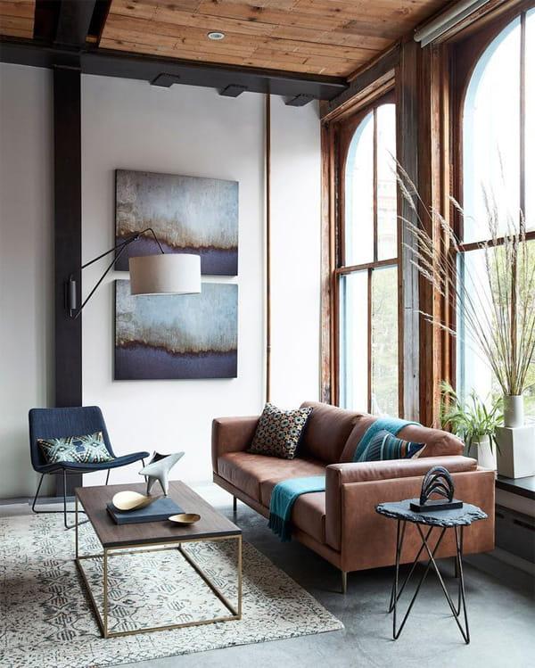 Vật dụng nội thất được lựa chọn một cách tinh tế trong phòng khách phong cách Zen