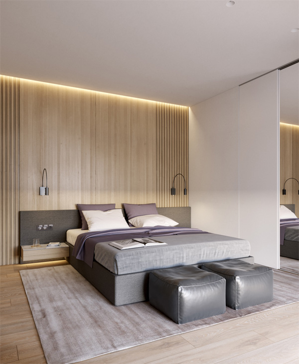 Phòng ngủ nên sử dụng đèn hắt sáng hoặc có ánh sáng gián tiếp