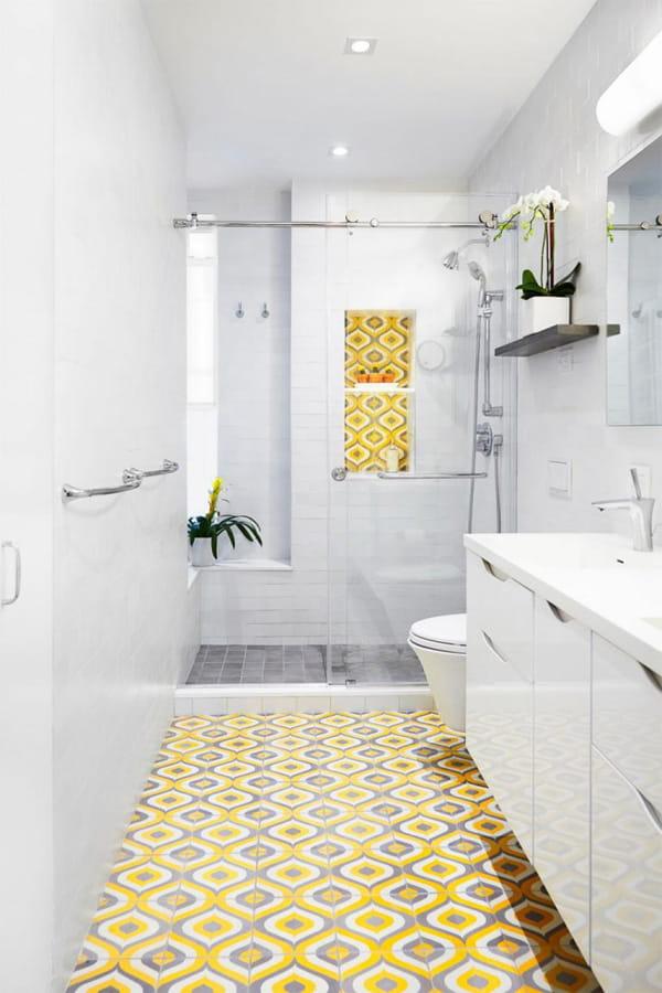 Nâng cấp không gian bằng những tông màu nổi bật cho phòng tắm 5