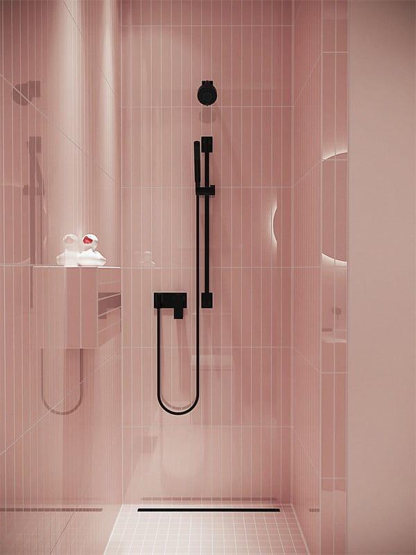 Nâng cấp không gian bằng những tông màu nổi bật cho phòng tắm 10