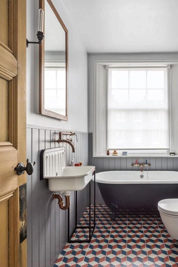 Nâng cấp không gian bằng những tông màu nổi bật cho phòng tắm 12