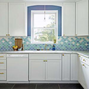 Mẫu tủ bếp màu trắng theo xu hướng mới nhất hiện nay