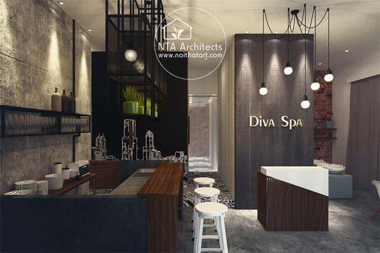 Một dự án thiết kế spa theo phong cách Vintage của Noithatart