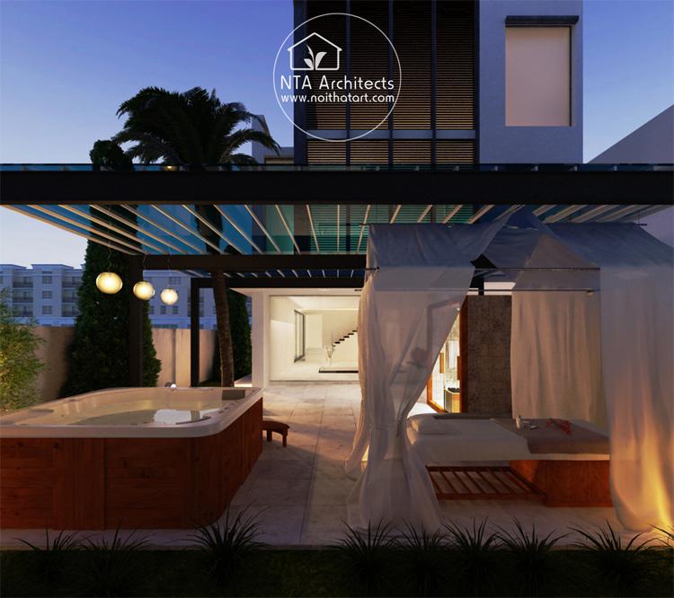 Không gian spa tại nhà cần phù hợp với phần còn lại của ngôi nhà