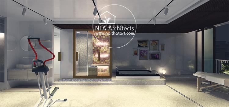 Mẫu thiết kế và trang trí phòng tắm spa tại nhà như một spa cao cấp 7