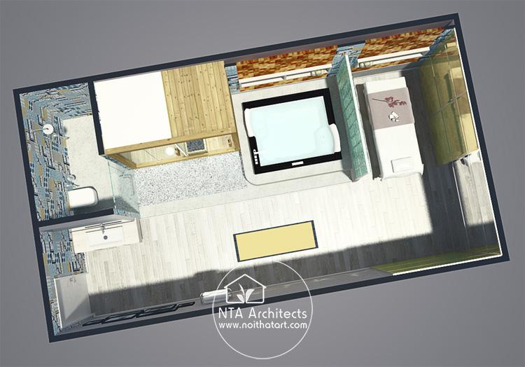 Mẫu thiết kế và trang trí phòng tắm spa tại nhà như một spa cao cấp 6