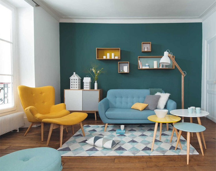 Màu sắc hợp lý sẽ tạo nên sự hài hòa cho ngôi nhà