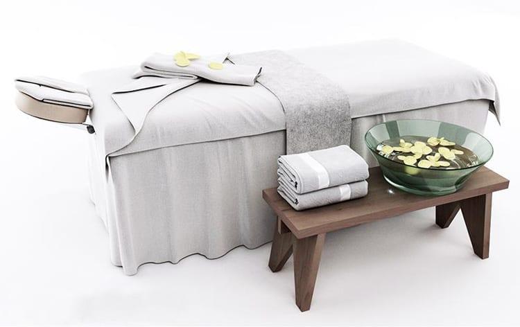 Mẫu setup giường spa đẹp và phù hợp với đa số dịch vụ spa