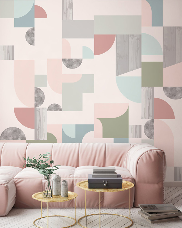Mẫu giấy dán tường có họa tiết Art Deco