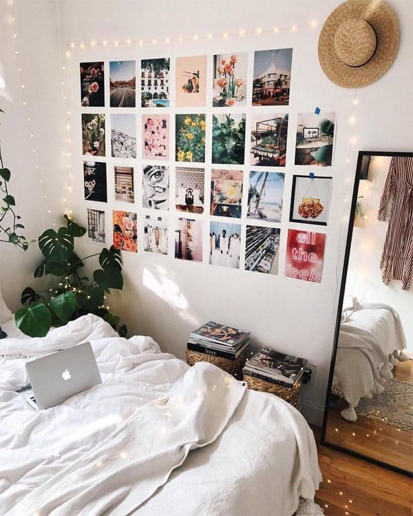 Một bức tường dán ảnh là cách lưu lại những kỷ niệm