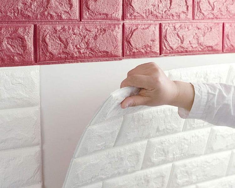 Xốp dán tường giả gạch là cách trang trí giúp bạn tiết kiệm tiền cũng như thời gian công sức