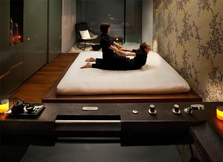 Một phòng Spa được thiết kế cho dịch vụ massage Thái