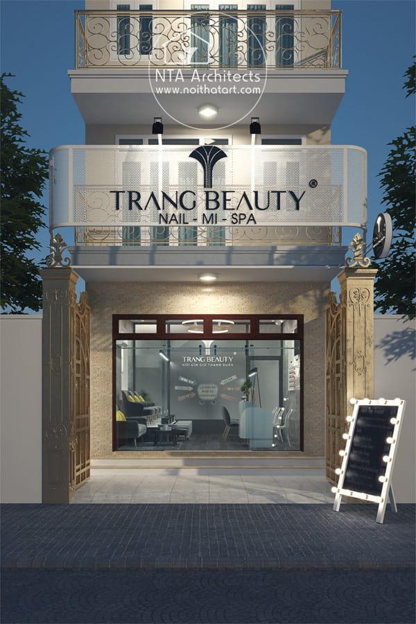 Thiết kế mặt tiền và bảng hiệu của Trang Beauty