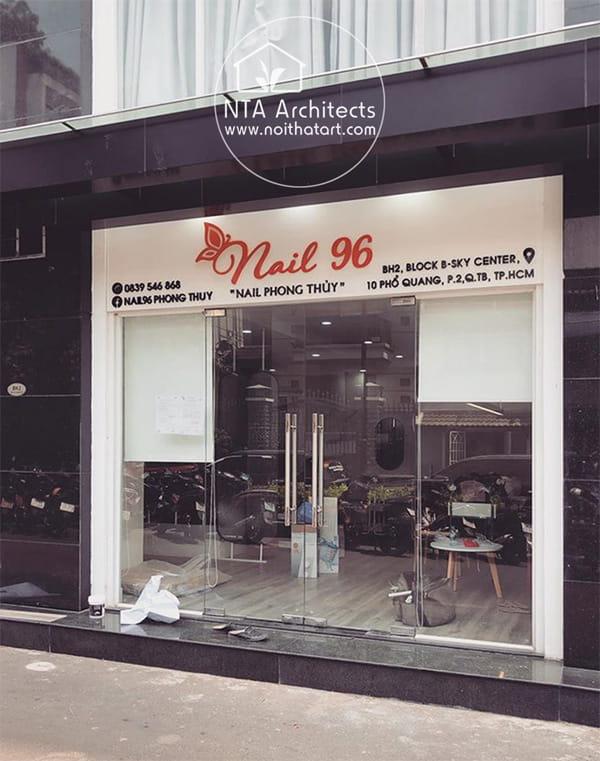 Thiết kế biển hiệu tiệm Nail 96 chuyên về dịch vụ làm nail phong thủy