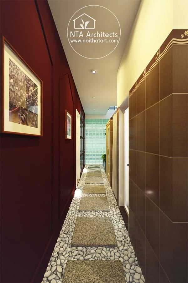 Lối đi trong spa cũng cần được đầu tư trang trí sao cho thu hút