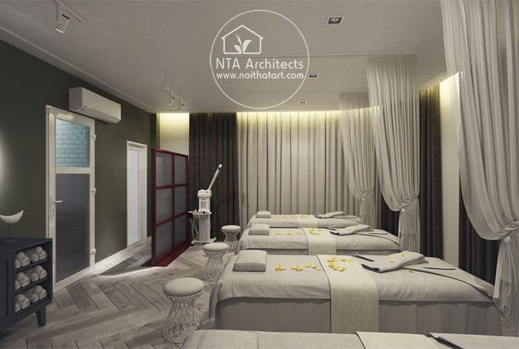 Mẫu thiết kế nội thất phòng spa chăm sóc da được bài trí khoa học