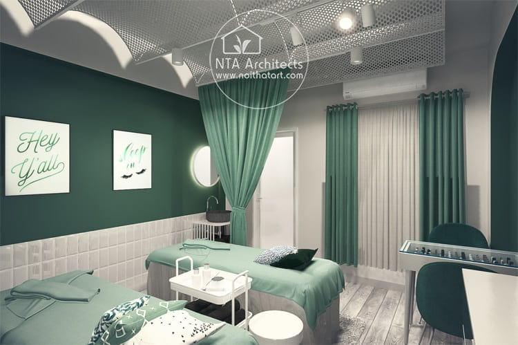 Mẫu thiết kế phòng spa mini tại nhà theo phong cách hiện đại đơn giản