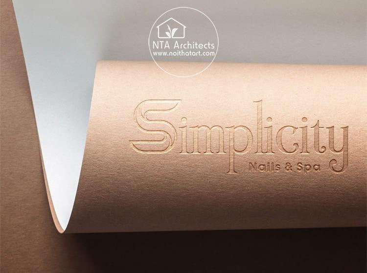 Logo của thương hiệu Simplicity Nails & Spa với font chữ tối giản