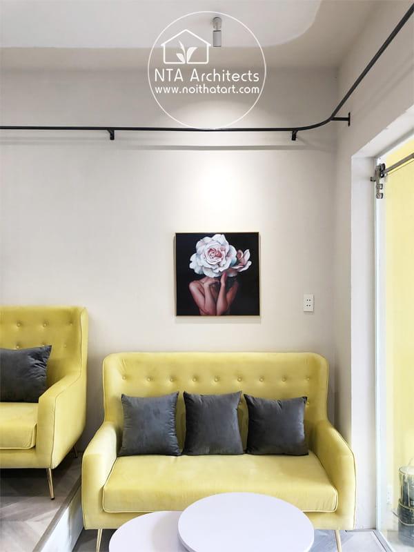 Không gian sofa tiếp khách cần tạo được sự thân thiện