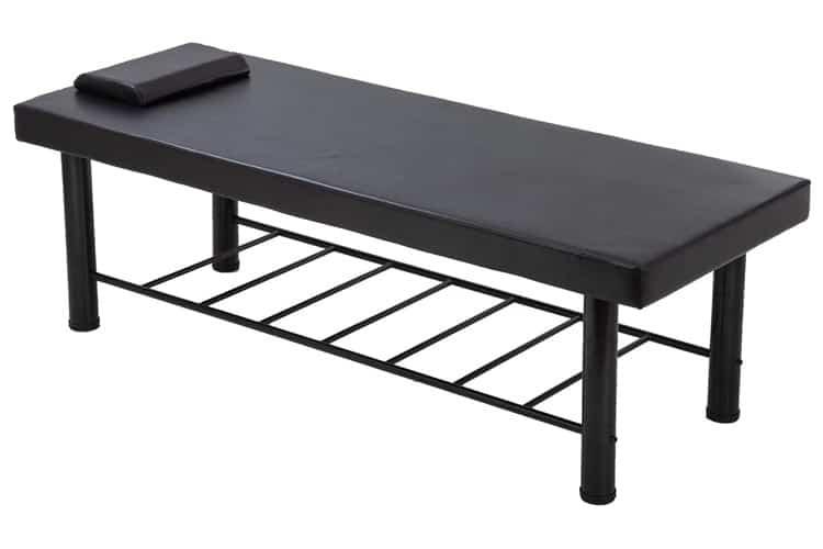Mẫu giường spa chân sắt sơn màu đen phong cách đơn giản hiện đại