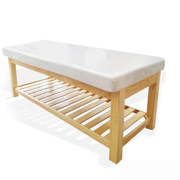 Mẫu giường spa massage chân gỗ thông
