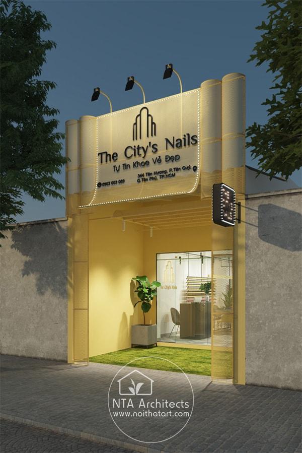Tiệm The City's Nails nằm trên con phố nhỏ