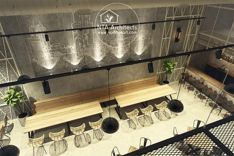 Nhà hàng cần có không gian thông thoáng và hiện đại